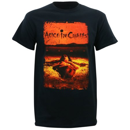 Alice In Chains Men's Dirt Album Cover T-Shirt (Alice In Chains Halloween Shirt)