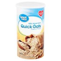 Great Value Quick Oats, 42 oz