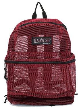 Travel Sport Transparent See Through Mesh Backpack/ School Bag