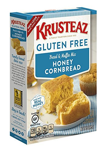 (2 Pack) Krusteaz Gluten Free Honey Cornbread Mix, 15oz Box