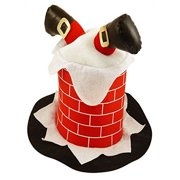 70f6f174 Novelty Funny Christmas Hat Stuck In Chimney Xmas Fancy Dress Party Costume