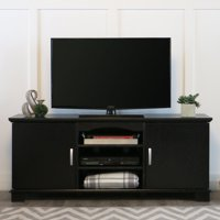 "Walker Edison Black TV Stand for TVs up to 65"", Multiple Colors"