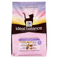 Hill's Ideal Balance Mature Adult Natural Chicken & Brown Rice Recipe Dry Cat Food, 15 lb bag