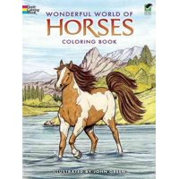 Wonderful World of Horses Coloring Book (Paperback)