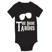 The Dude Abides  6 Month Black Baby One Piece