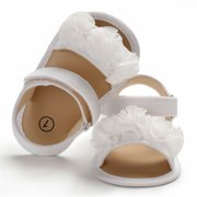 Newborn Kid Baby Girl Flower Sandals Summer Casual Crib Shoes First Prewalker White 0-6. Product Variants Selector. White Red Pink