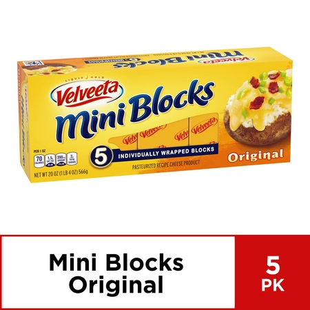 Velveeta Mini Cheese Blocks, Original Cheese, 5 ct - 20.0 oz Box