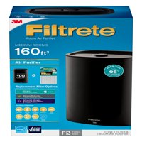 Filtrete by 3M Room Air Purifier, Medium Room Console, 160 SQ Ft Coverage, Black, HEPA-Type Allergen Filter Included