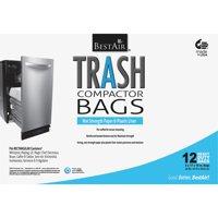 "Bestair Heavy Duty Compactor Bags, 16"" D x 9"" W x 17"" H, 12 Ct"