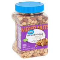 Great Value Roasted & Salted with Sea Salt Mix Nuts, 26 Oz.