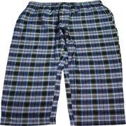 NORTY Mens Woven Pajama Sleep Lounge Pant - 100% Cotton Poplin - 8 Prints, 40761 Black-Blue-Green Plaid / XX-Large