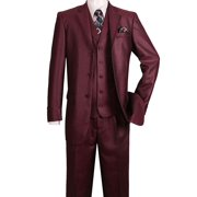 High Fashion Suit with Edged Notch Lapel