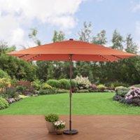 Better Homes and Gardens 8 x 11 ft. Aluminum Solar Lighted Patio Umbrella