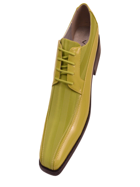 Viotti Men's Formal Oxford Dress Shoe Striped Satin Patent Tuxedo Classic Lace up Style 179