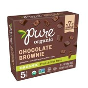Pure Organic Chocolate BrownieFruit & Nut Bar 8.5 oz 5 Ct