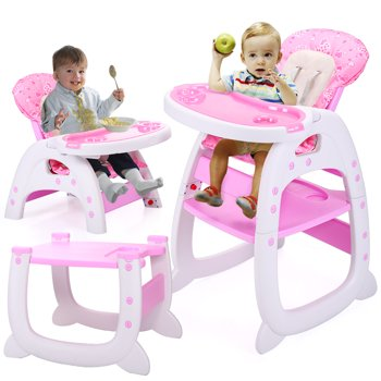 Jaxpety 3 in 1 Convertible Tobbi Baby High Table Chair with Tray