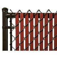 Redwood 5ft Tube Slat for Chain Link Fence