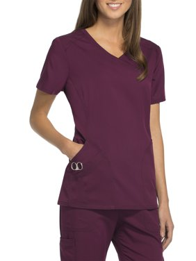 Scrubstar Women's Premium Rayon Mock Wrap Scrub Top
