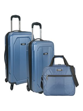 US Traveler Bloomington 3-Piece Carry On Spinner Luggage Set