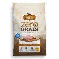 Rachael Ray Nutrish Zero Grain Natural Dry Dog Food, Grain Free, Turkey & Potato Recipe, 6 lbs