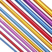 Mosunx 11pcs 10.6 Aluminum Tunisian Afghan Crochet Hook Knit Needles Set 2-8mm LW