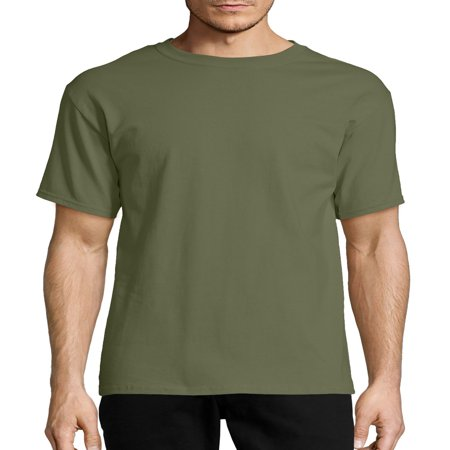 Hanes Men's Tagless Short Sleeve Tee Cock Ash Grey T-shirt