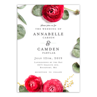Personalized Wedding Invitation - Real Love - 5 x 7 Flat