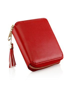 Fashion Womens Leather Coin Mini Wallet Case Card Holder Zip Purse Clutch Handbag