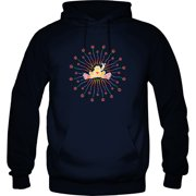 322a37d9e Peace Frogs Adult Radiate Peace Printed Hooded Pullover Sweatshirt