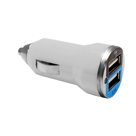 EpicDealz Dual USB Car Charger 3.1Amp 15.5W - 1.0&2.1A Smart Power Supply For Huawei M835 (Metro PCS) - Compact White
