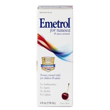 Emetrol Nausea And Upset Stomach Relief Liquid Medication Cherry