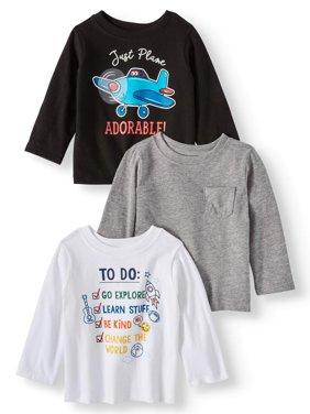 Garanimals Long Sleeve T-Shirts, 3-pack (Baby Boys)