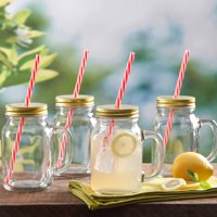 Gibson Home Decha 4-Piece 19 oz Mason Jar Glass Set, Glass