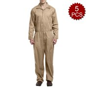 896a697275a6 TOPTIE Men 5 Pack Twill Big-Tall Coverall Stain   Wrinkle Resistant  Cotton Poly