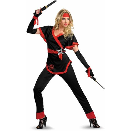Fire Dragon Ninja Costume (Ninja Dragon Women's Adult Halloween)