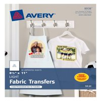 "Avery T-Shirt Transfers, 8-1/2"" x 11"", 18 Transfers (8938)"