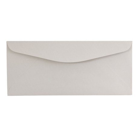 JAM Paper #12 Envelopes, 4 3/4 x 11, Grey Kraft, - Gray Envelopes