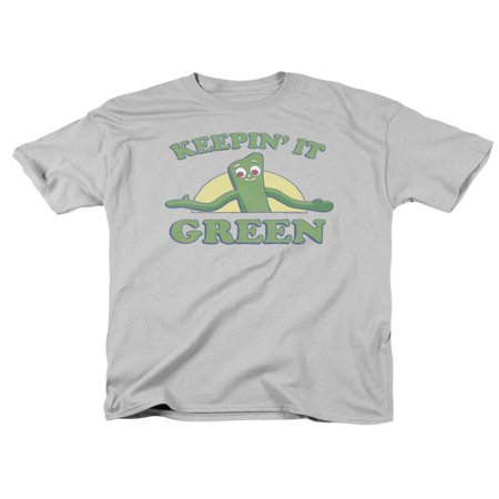 Gumby Green Clay Character Keepin It Green Adult T-Shirt - Gumby Suit