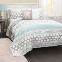 Elephant Stripe Bedding Quilt Set