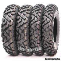Set of 4 New WANDA ATV/UTV Tires 25x8-12 Front & 25x10-12 Rear /6PR P350 - 10163/10165