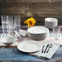 Gibson Home 48-Piece White Kitchen Basic Essentials Dinnerware Set