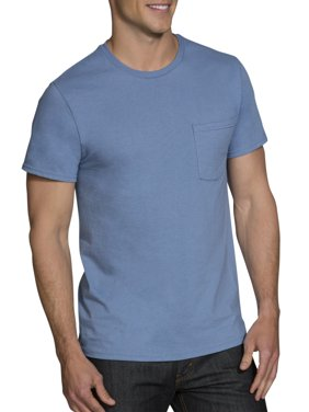 Big Men's Dual Defense Assorted Pocket T-Shirts Extended Sizes, 4 Pack