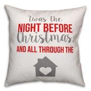 Night Before Christmas 16x16 Spun Poly Pillow Cover