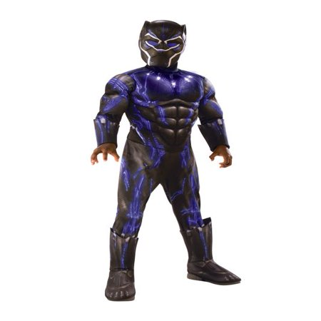 Rubies Costume Co Deluxe Black Panther Child Halloween Costume](Black Costume Ideas)