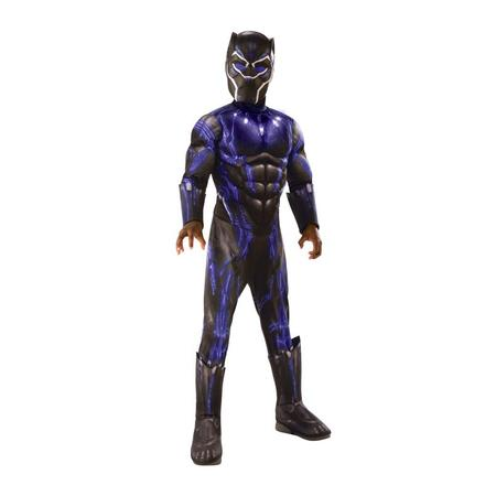 Rubies Costume Co Deluxe Black Panther Child Halloween Costume](Halloween Ideas For Black Man)