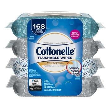 Cottonelle FreshCare Flushable Wet Wipes, 42 Wipes per Pack