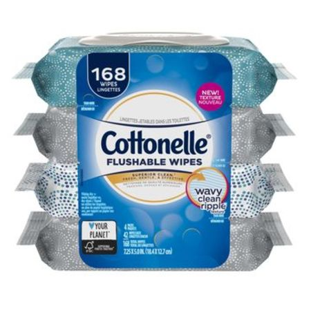 Cottonelle FreshCare Flushable Wet Wipes, 42 Wipes per (Flushable Moist Wipes Case)