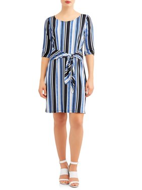 Women's Stripe Tie Front Dress