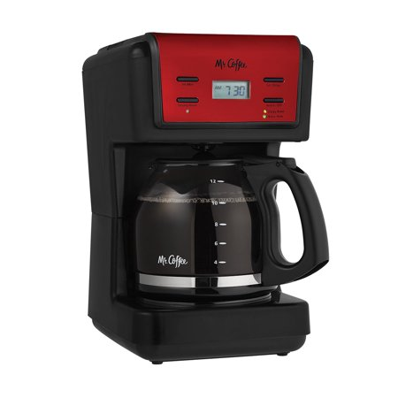 Mr. Coffee 12 Cup Programmable Red Coffee Maker