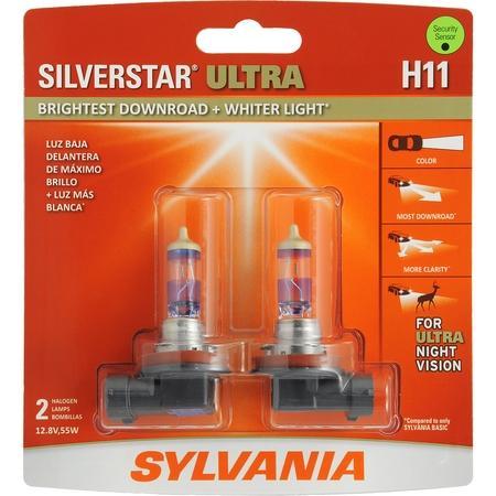 SYLVANIA H11 SilverStar ULTRA Halogen Headlight Bulb, Pack of